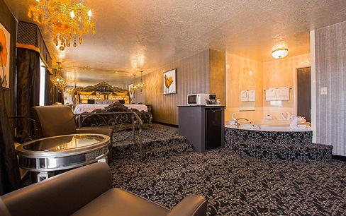 Honeymoon suite hotel room