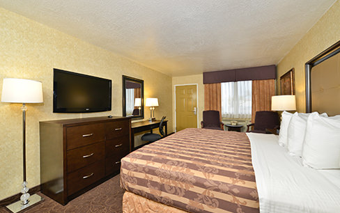 king suite bed and tv