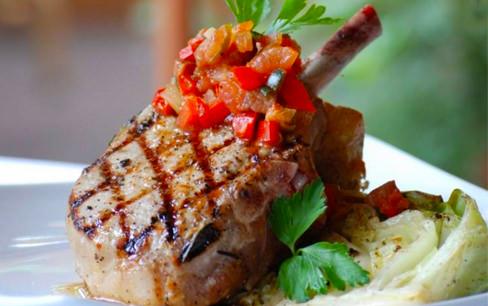 Meat dinner plate