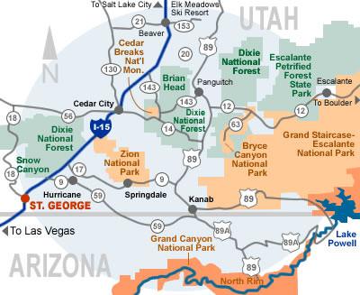 area map - Cedar City Hotels   Hotels In Cedar City Utah   Official Cedar City Map on