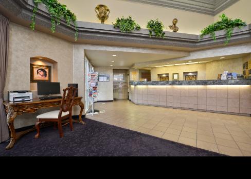 hotel lobby desk
