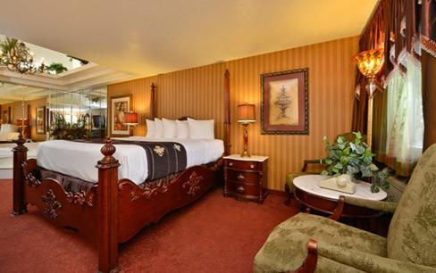 hotel room with bath tub