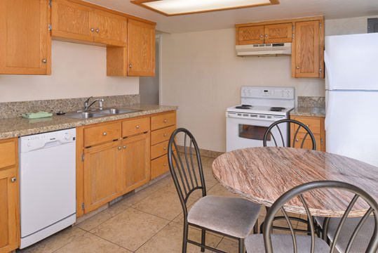 kitchen with kitchen table